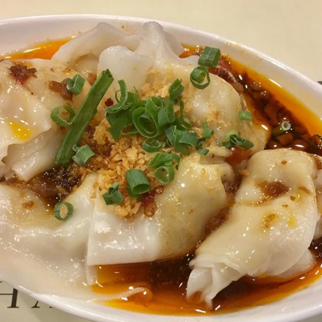 Dumplings in chili sauce (x6)
